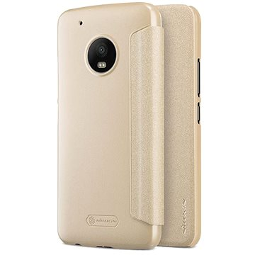 Nillkin Sparkle Folio Gold pro Lenovo Moto G5 Plus (8595642297861)