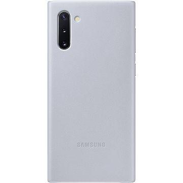 Samsung Kožený zadní kryt pro Galaxy Note10 šedý (EF-VN970LJEGWW)