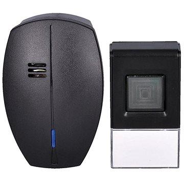 Solight bezdrátový zvonek, do zásuvky, 120m, černý, learning code (1L56B) (1L56B)