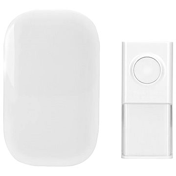 Solight bezdrátový zvonek, do zásuvky, 150m, bílý, learning code (1L43) (1L43)