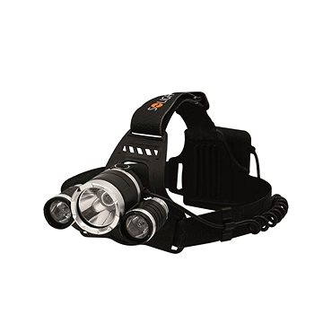 Solight čelová LED svítilna SUPER POWER, 3x Cree LED (WH23)
