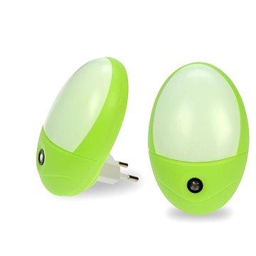 Solight noční světlo se senzorem 0,5W, zelená (WL902)