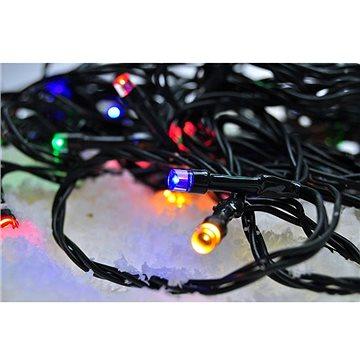 LED venkovní vánoční řetěz, 50 LED, 5m, přívod 3m, 8 funkcí, časovač, IP44, vícebarevný (1v110-m)