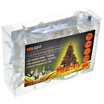 Solight LED řetěz hvězdy 10 LED, bílá (1V52-W)