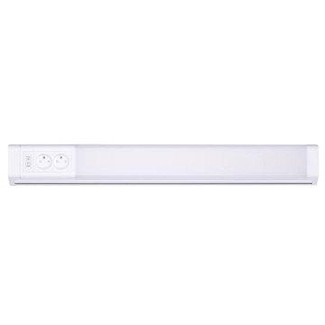 LED kuchyňské svítidlo, 2x zásuvka, vypínač, 10W, 4100K, 51cm (WO213)