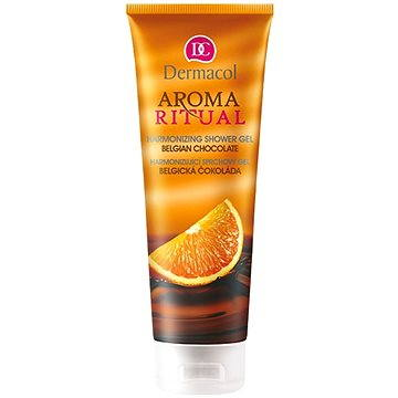 AROMA RITUAL SHOWER GEL - BELGIAN CHOCOLATE + ZDARMA Tělové sérum DERMACOL Enja sérum 5 ml - tester