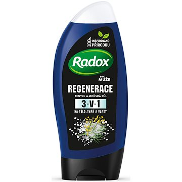 Pánský sprchový gel RADOX Men Feel stimulated orange & tea tree 2v1 250 ml (8711600785854)