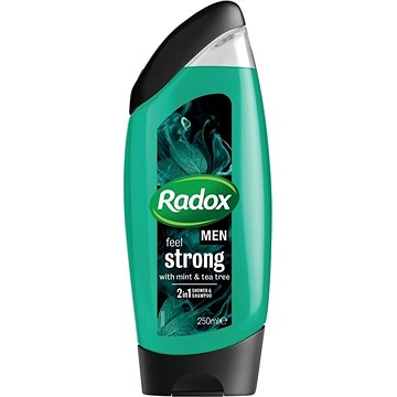 Pánský sprchový gel RADOX Men Feel strong mint & tea tree 2v1 250 ml (5000231082221)