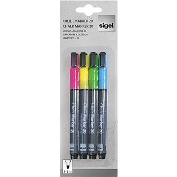 SIGEL křídový 1-2mm - sada 4 barev (GL179)