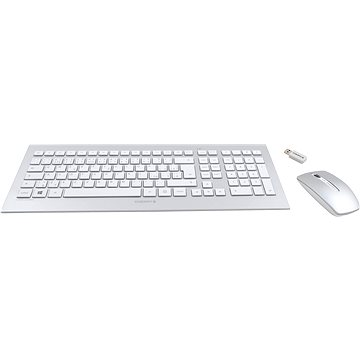 Cherry DW 8000 CZ+SK layout - bílo-stříbrný (JD-0300CS)