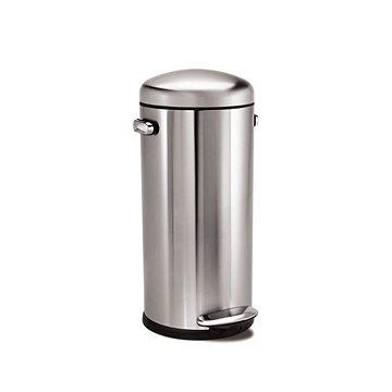 Odpadkový koš Simplehuman Pedálový koš Retro 30l, kulatý, matná ocel FPP (CW1880)