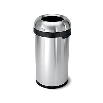 Odpadkový koš Simplehuman Koš na odpadky 60l, tvar kulky, otevřený, matná ocel (CW1407)
