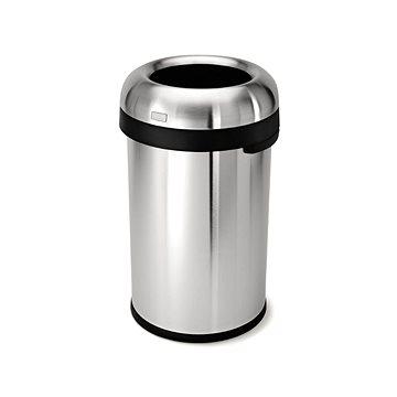 Odpadkový koš Simplehuman Koš na odpadky 80l, tvar kulky, otevřený, matná ocel (CW1469)