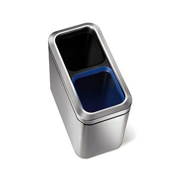 Simplehuman Koš na tříděný odpad 10/10l, otevřený, matná ocel, FPP (CW1470)