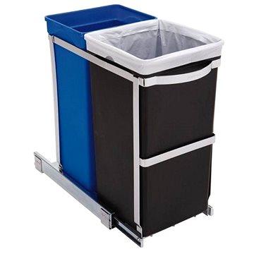 Odpadkový koš Simplehuman Vestavný koš na tříděný odpad 20/15l, lesklá ocel, plastový kbelík (CW1016)