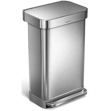Simplehuman Pedálový koš 45l, matná ocel, FPP, kapsa na sáčky (CW2024)