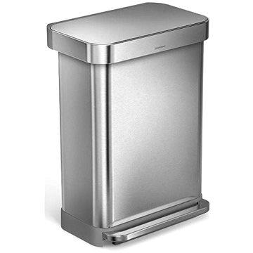 Simplehuman Pedálový koš 55l, matná ocel, FPP, kapsa na sáčky (CW2023)