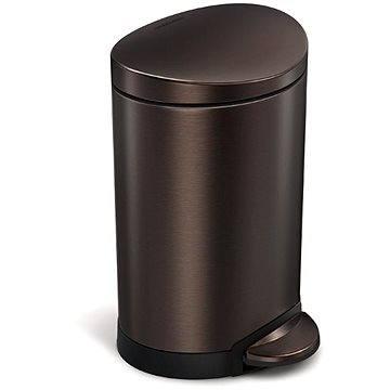 Odpadkový koš Simplehuman Pedálový koš 6l, půlkulatý, dark bronze (CW2038)
