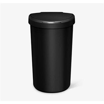 Odpadkový koš Simplehuman Bezdotykový koš 40l, půlkulatý, černý plast (ST2011)