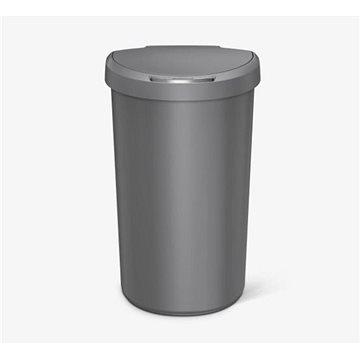 Odpadkový koš Simplehuman Bezdotykový koš 40l, půlkulatý, šedý plast (ST2013)