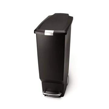 Odpadkový koš Simplehuman Pedálový koš na odpadky 40l, úzký, černý plast (CW1361)