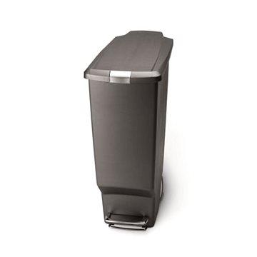 Odpadkový koš Simplehuman Pedálový koš na odpadky 40l, úzký, šedý plast (CW1363)