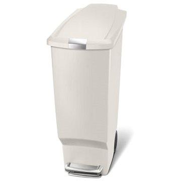 Odpadkový koš Simplehuman Pedálový koš na odpadky 40l, úzký, béžový plast (CW1381)