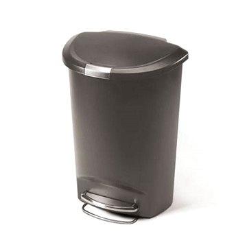 Odpadkový koš Simplehuman Pedálový koš na odpadky 50l, půlkulatý, plast, šedý (CW1357)