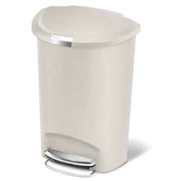 Odpadkový koš Simplehuman Pedálový koš na odpadky 50l, půlkulatý, plast, béžový (CW1377)