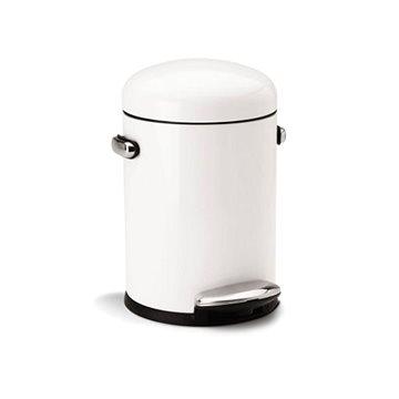 Odpadkový koš Simplehuman Retro koš do koupelny 4.5l, kulatý, bílý (CW1295)