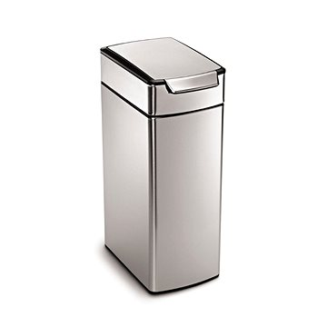 Odpadkový koš Simplehuman Dotykový koš 40l, úzký, matná ocel, FPP (CW2016)