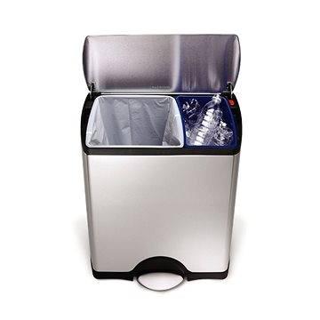 Odpadkový koš Simplehuman Koš na tříděný odpad 30/16l, obdélníkový, matná ocel, FPP (CW1830)