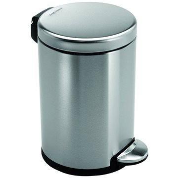 Odpadkový koš Simplehuman Pedálový koš 3l, kulatý, matná ocel, FPP (CW1854CB)