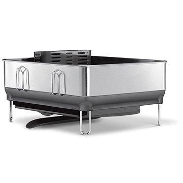 Simplehuman Odkapávač na nádobí, kompaktní ocelový rám, matná ocel/šedý plast, FPP (KT1154)