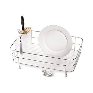 Simplehuman Odkapávač na nádobí, úzký drátěný rám, matná ocel/matný plast, FPP (KT1107)