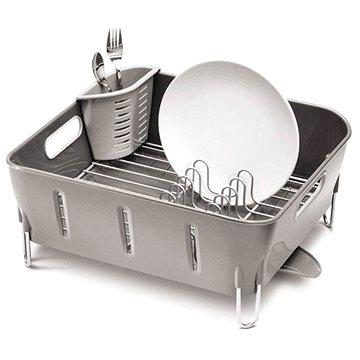 Simplehuman Odkapávač na nádobí Compact, šedý plast (KT1106)