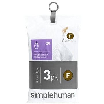 Pytle na odpadky Simplehuman Sáčky do koše typ F, 25l, 3 x balení po 20 ks (60 sáčků) (CW0256)
