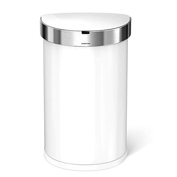 Odpadkový koš Simplehuman, bezdotykový, 45l, bílý (ST2018)