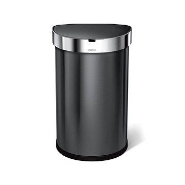 Simplehuman bezdotykový odpadkový koš 45L, půlkulatý, černá ocel (ST2021)