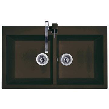 Sinks AMANDA 860 DUO Marone (8596142006205)