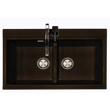 Sinks KINGA 860 DUO Granblack (8596142006830)