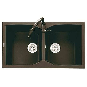 Sinks NAIKY 860 DUO Marone (8596142007271)