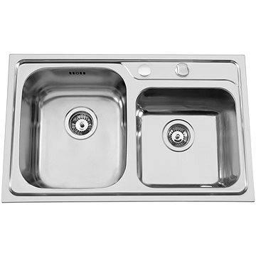 Sinks ALFA 800 DUO V 0,7mm levý leštěný (8596142003532)
