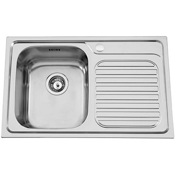 Sinks ALFA 800 V 0,7mm levý leštěný (8596142003570)