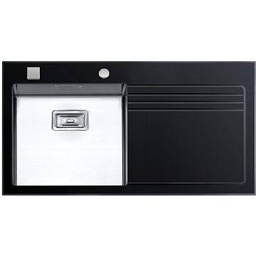 Sinks GLASS 1000 černý levý 1,2mm (8596142003761)
