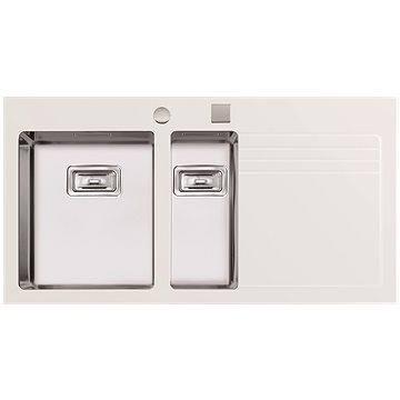 Sinks GLASS 1000.1 bílý levý 1,2mm (8596142003723)