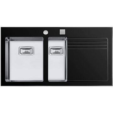 Sinks GLASS 1000.1 černý levý 1,2mm (8596142003709)