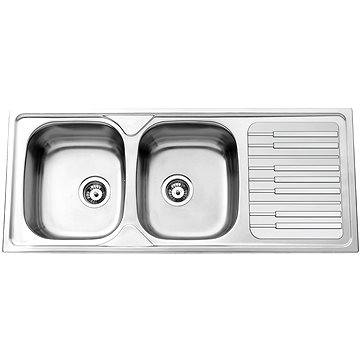 Sinks PIANO 1160 DUO V 0,7mm leštěný (8596142005130)