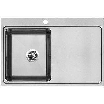 Sinks BLOCK 780 V 1mm levý kartáčovaný (8596142021901)