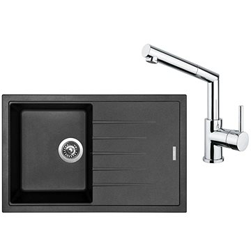 SINKS BEST 780 Granblack + MIX 350 P lesklá